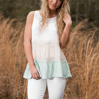 Fun And Frills Top, Mint