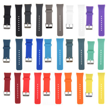 Strap width 20mm Luxury Replacement Silicone Watch Band Stylish Silicone Replacement Strap For Samsung Galaxy Gear S2 SM-R720