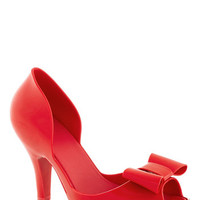 Mel Shoes All in Al Fresco Heel in Red