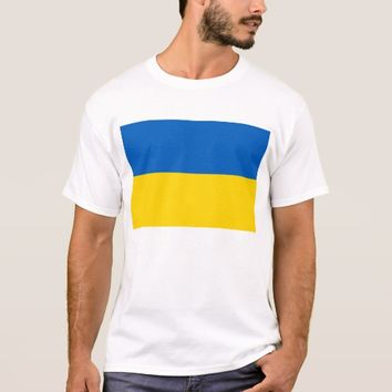 T Shirt with Flag of Ukraine