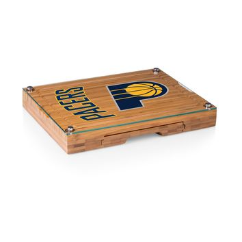 Indiana Pacers - 'Concerto' Glass Top Cheese Board & Tools Set by Picnic Time