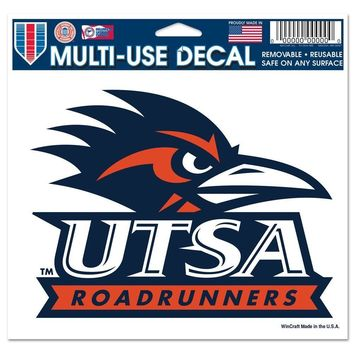 "TEXAS SAN ANTONIO ROADRUNNERS 5""X6"" MULTI USE COLOR DECAL CLING REUSABLE NEW"
