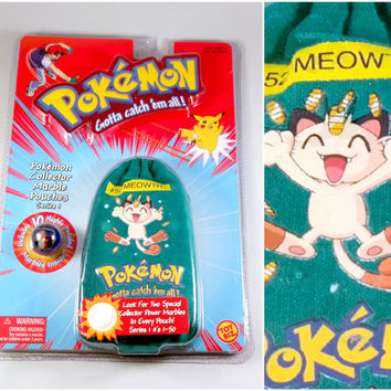 VINTAGE Pokemon Marbles - Meowth
