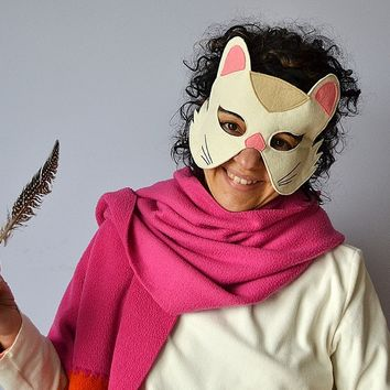 BHB KIDSTYLE Felt animal masks for Adults. Halloween and Carnival Masks for Adults
