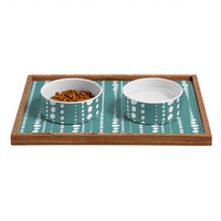 Heather Dutton Bestrewn Lagoon Pet Bowl and Tray