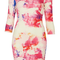 Paintbomb Bodycon Dress - Dresses  - Clothing