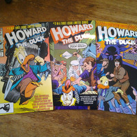 Howard the Duck: the Movie; Vol 1, 1 through 3.  NM.  1986 - 1987. Marvel Comics
