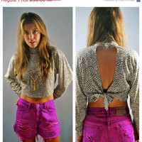 SALE Vintage 1990s Shirt / Leopard Print / by IndieStyleSociety
