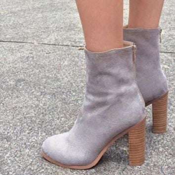 Fashion Sexy High Heels Leather Ankle Boots