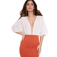 Deep V Sexy Shirts bodysuit for women