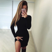 Summer Women's Fashion Irregular Slim One Piece Dress [11656175759]