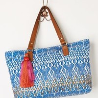 Atlantique Tote by Jasper & Jeera Blue One Size Bags