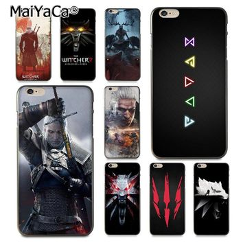 MaiYaCa The Witcher Wild Hunt Painted cover Style Design Cell Phone Case for Apple iPhone 8 7 6 6S Plus X 5 5S SE 5C Cover