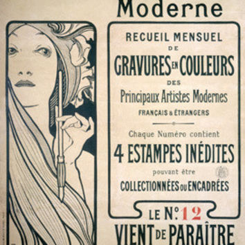 Nouveau Modern Litho Advertisement by Alphonse Mucha Fine Art Print
