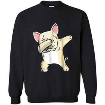 Frenchie Dabbing  French Bulldog Kids Clothes Printed Crewneck Pullover Sweatshirt