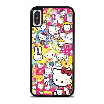 HELLO KITTY STICKER BOMB iPhone X Case Cover