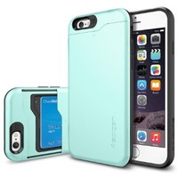 """iPhone 6 Case, Spigen® [Card Slot] iPhone 6 Case Wallet **NEW** [Slim Armor CS] [Mint] With Card Slot Advanced Shock Absorption Protective Wallet Case for iPhone 6 (4.7"""") (2014) - CS Mint (SGP10966): Amazon.ca: Cell Phones & Accessories"""
