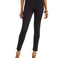 Black High-Waisted Pull-On Skinny Pants by Charlotte Russe