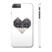 Geometric art heart Phone Case