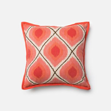 Loloi Coral / Pink Decorative Throw Pillow (P0162)