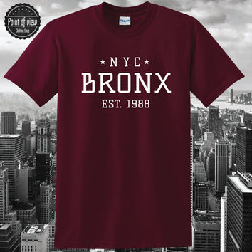Nyc Bronx Tshirt, Nyc Shirt, Mens T shirt, Street, Swag, Hipster, Star Icon, Tee, Vogue, Hip hop, tumblr tshirt, fashion Issues, Celine Boy