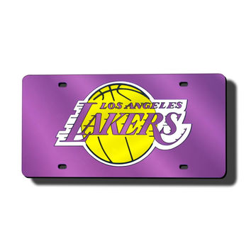Los Angeles Lakers NBA Laser Cut License Plate Cover