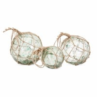 Recycled Glass Floats - Set Of 3