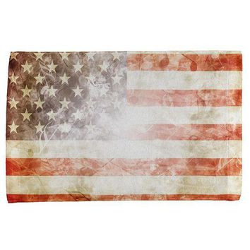 DCCKU3R 4th of July American Flag Star Spangled Banner All Over Hand Towel