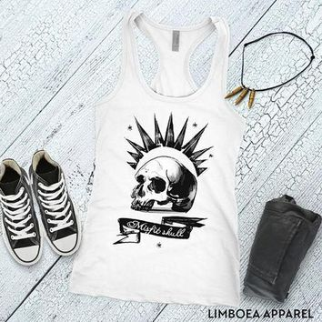 Chloe Price Tanktop cosplay sleeveless shirt Misfit Skull Tank top Racerback tank screenprint Chloe Price shirt for gamer girl cosplay shirt