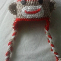 Sock Monkey Photo Prop for Infants, Babies and Toddlers