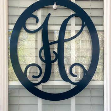 Metal Monogram - Letter H  in Teal