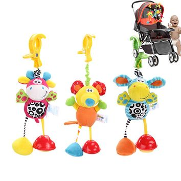 Baby Toys Rattles Mobile Soft Doll Plush Kids Toys for Children Newborns Kids Animal Clip Crib Bed Stroller Hanging Bells Dolls