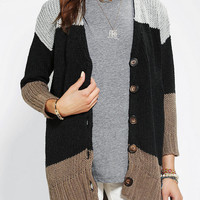 Sparkle & Fade Colorblock Long Cardigan