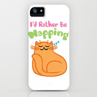 I'd Rather Be Napping iPhone & iPod Case by LookHUMAN