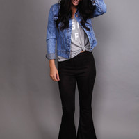Knock Out Bell Bottoms: Mink Pink