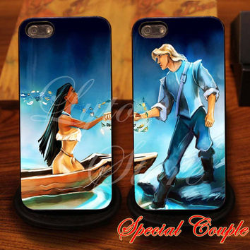 Pocahontas and John Smith Couple Design for iPhone 4, iPhone 4s, iPhone 5, Samsung Galaxy S3, Samsung Galaxy S4 Case
