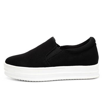 Women Canvas Shoes Women Platforms Sneakers Women Sneakers Sweet Solid Black Red Canvas Shoes Womens Loafers Alternative Measures