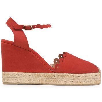 Suede wedge espadrilles | CASTAÑER | Sale up to 70% off | THE OUTNET