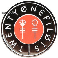 "Licensed cool 21 Twenty One Pilots Music Band 1"" Circle Skeleton Key Logo Enamel Lapel Pin NEW"