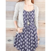 Zipper Floral Printed Dress