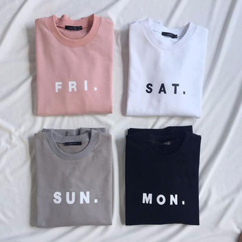 Days Of The Week Sweatshirt