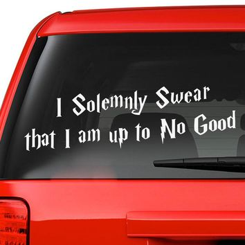Harry Potter I Solemnly Swear I Am Up To No Good Car Decal Vinyl Sticker