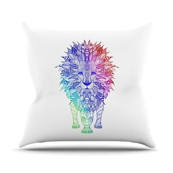 "Monika Strigel ""Rainbow Lion"" Throw Pillow"