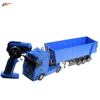 RC Truck 1:32  Brand Dumper Truck 10 Wheel 6CH Radio Control Automatic Lift Engineering Container Truck Electronic Toy Vehicle