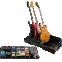 Gig-Box All-In-One Pedal Board and 3x Guitar Stand Combo Case