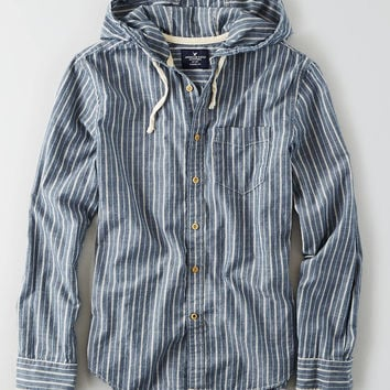 AEO BUTTON DOWN HOODIE