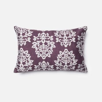 Loloi Plum / Silver Decorative Throw Pillow (P0005)