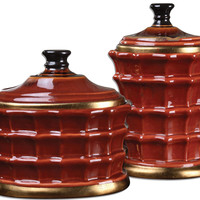 Brianna Ceramic Canisters, S/2