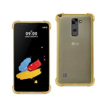 New Mirror Effect Case With Air Cushion Protection In Clear Gold For LG Stylus 2