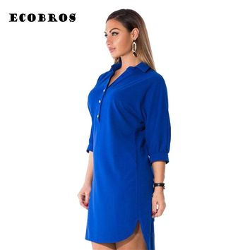 Big size 6XL 2017 Fat MM Woman dress Summer solid sexy split irregular shirt dresses plus size women clothing 6xl dress